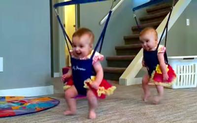 Bouncing Babies + Irish Music = Huge Smiles!