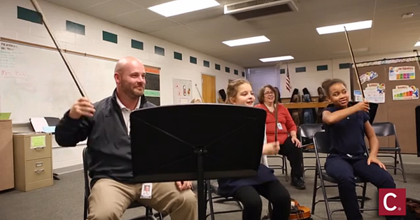 School Principal Joins 5th Grade Orchestra!