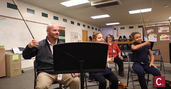 School Principal Joins 5th Grade Orchestra!