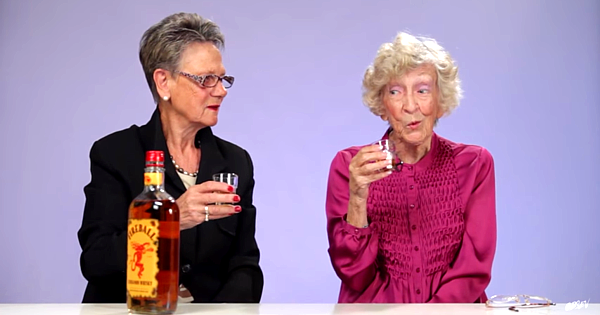 Grandmas Taste Fireball Whiskey For First Time!