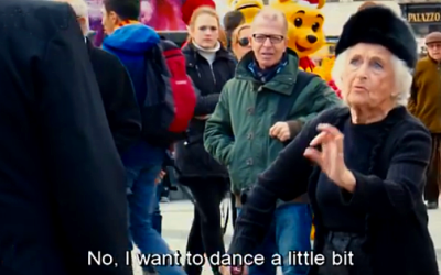 Elderly Woman Ditches Her Cane To Dance!