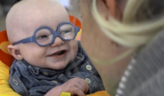 Baby Sees His Mom For The First Time